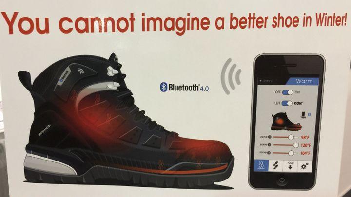 (La future chaussure connectée de la marque Glagla © JC)
