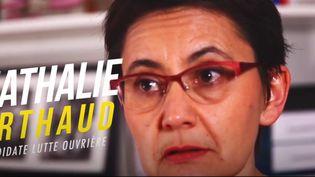 Nathalie Arthaud répond aux questions des étudiants du CFJ. (CFJ / France Télévisions)