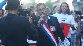 Le député François Ruffin à Saint-Ouen (Somme), le 2 septembre 2017. (FRED DOUCHET / MAXPPP)