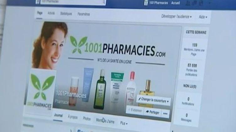 Capture d'écran du site1001Pharmacies.com base dans l'Hérault juin 2014 (FRANCE 3 / FRANCETV INFO )