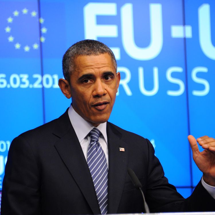 Le président américain, Barack Obama, le 26 mars 2014, à Bruxelles (Belgique). (DURSUN AYDEMIR / ANADOLU AGENCY / AFP)