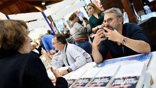 Le comédien et écrivain Philippe Torreton lors de la Foire aux livres à Brive-la-Gaillarde (Corrèze) le 9 novembre 2018 (ST?PHANIE PARA / MAXPPP)