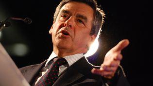 L'ancien Premier ministre François Fillon, le 26 mars 2014 à Valence (Drôme). (CHRISTOPHE ESTASSY / CITIZENSIDE.COM / AFP)