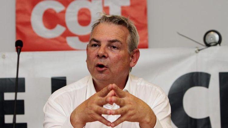 (Thierry Lepaon, secrétaire général de la CGT © Maxppp)