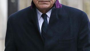 Bernard Debré arrive aux obsèques de Lucien Neuwirth, le 29 novembre 2013, à Paris. (PATRICK KOVARIK / AFP)