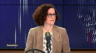 Emmanuelle Wargon, secrétaire d'État auprès de la ministre de la Transition écologique et solidaire, était l'invitée de franceinfo samedi 22 février. (FRANCEINFO / RADIOFRANCE)