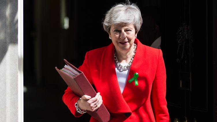 La Première ministre britannique, Theresa May, le 15 mai 2019 à Londres (Royaume-Uni). (WIKTOR SZYMANOWICZ / NURPHOTO / AFP)