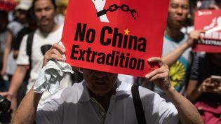 Un manifestant à Hong Kong, le 9 juin2019. (PHILIP FONG / AFP)