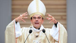 Le cardinal Philippe Barbarin pendant une cérémonie religieuse à Lyon le 14 octobre 2012. (PHILIPPE MERLE / AFP)