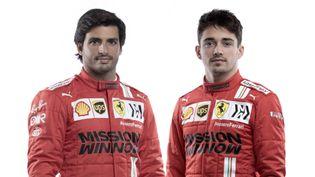 Les pilotes Ferrari pour la saison 2021, Carlos Sainz et Charles Leclerc (HANDOUT / SCUDERIA FERRARI PRESS OFFICE)