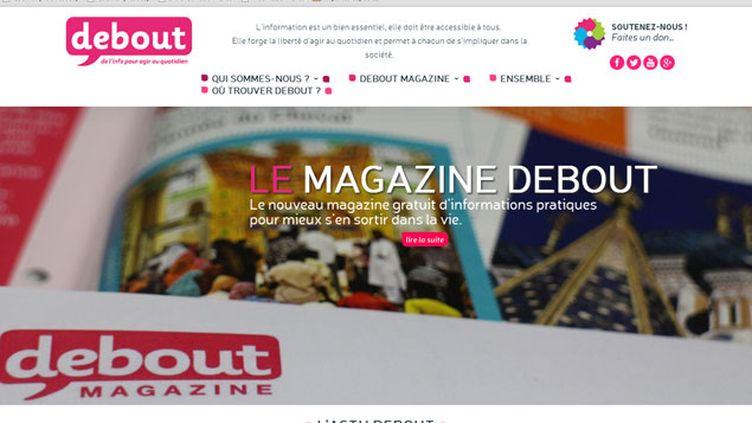 """(""""Debout"""", premier magazine gratuit sur les initiatives solidaires © Capture d'écran)"""