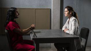Michelle Monaghan est Eva Geller et Mehdi Dehbi est Al-Masih dans cette nouvelle série de Netflixqui mêle mystique et politique. (JOHN GOLDEN BRITT/NETFLIX / OSP07847)