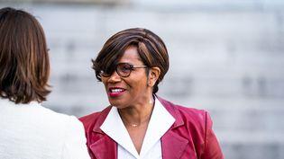 Elisabeth Moreno, ministre déléguée auprès du Premier ministre en charge de l'égalité femme-homme, à Paris, le 13 octobre 2021. (XOSE BOUZAS / HANS LUCAS / AFP)