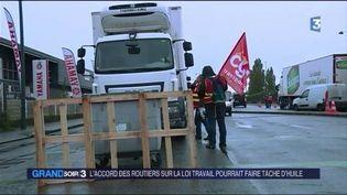 Les routiers ont obtenu un accord avec le gouvernement. (FRANCE 3)
