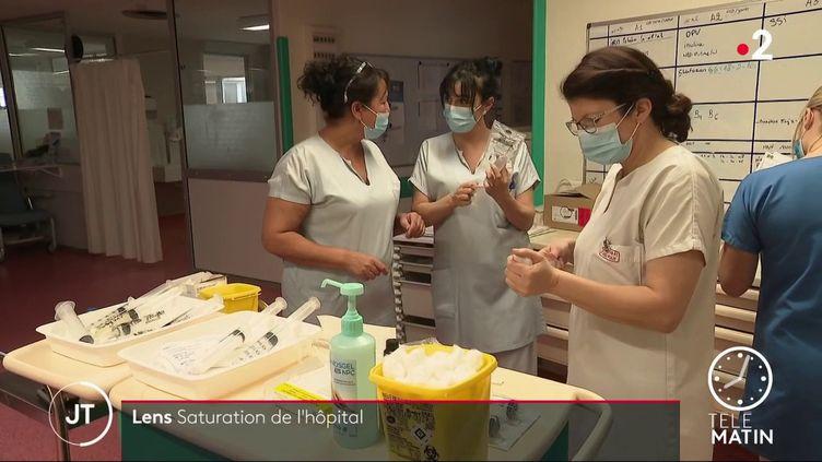 Des soignantes à l'hôpital de Lens. (France 2)