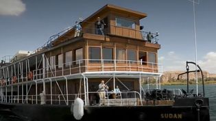Le mythique bateau Sudan, en croisière sur le Nil. (CAPTURE ECRAN FRANCE 2)