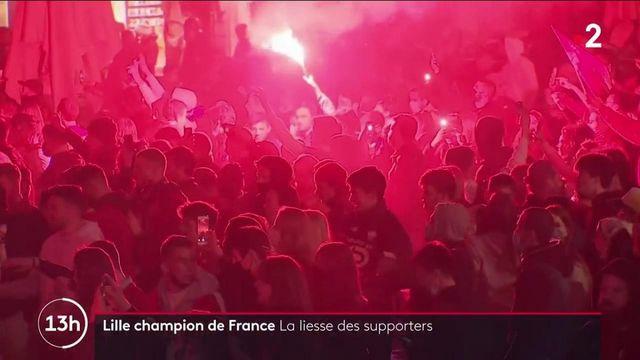 Football : Lille sacré champion de Ligue 1, les supporters se rassemblent par milliers