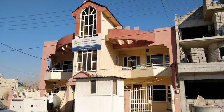 Le bureau de sauvetage des otages yézidis à Dohuk, dans le Kurdistan irakien. (ERIC AUDRA / RADIO FRANCE)