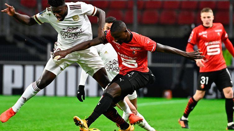 Guirassy en manque de réussite face à Bordeaux (DAMIEN MEYER / AFP)