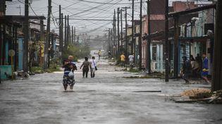 Après le passage de l'ouragan Irma, la province deVilla Clara (Cuba) a été inondée, le 9 septembre 2017. (ADALBERTO ROQUE / AFP)