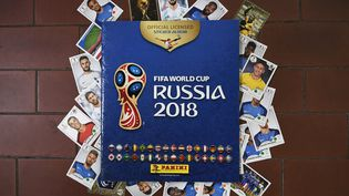 L'album Panini de la Coupe du monde 2018. (MARCO BERTORELLO / AFP)