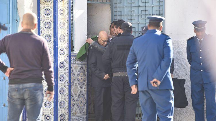 Une des figures de la contestation populaire (Hirak), Lakhdar Bouregaâ, 86 ans, vétéran de la guerre d'indépendance, a été remis en liberté par la justice algérienne après six mois de détention. Photo prise le 2 janvier 2020. (RYAD KRAMDI / AFP)