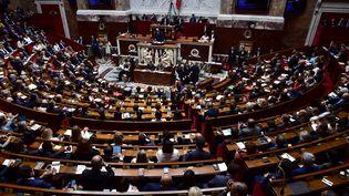 L'Assemblée nationale lors du discours de politique générale du Premier ministre Edouard Philippe, le 4 juillet 2017, à Paris. (CHRISTOPHE ARCHAMBAULT / AFP)