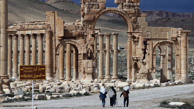 L'arc de triomphe à Palmyre  (JOSEPH EID / AFP)