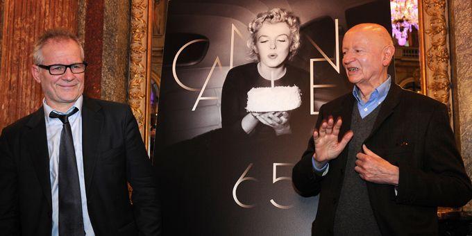 Thierry Frémaux et Gilles Jacob ont dévoilé la sélection 2012  (FRANCK FIFE / AFP)