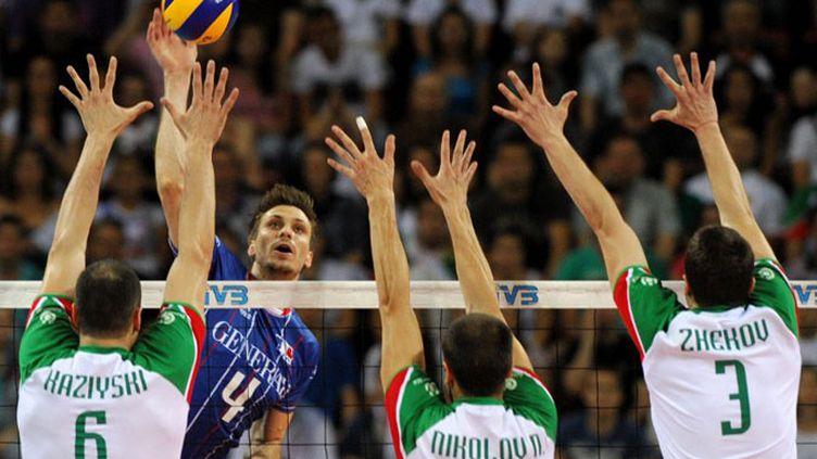 Le Français Antonin Rouzier face au contre bulgare