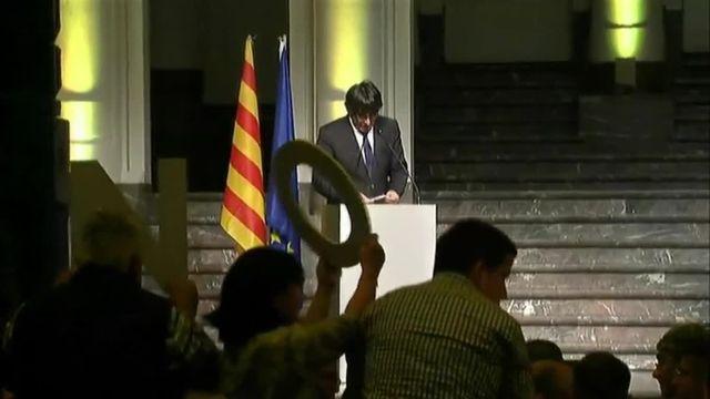 Carles Puigdemont très critique contre les dirigeants de l'UE