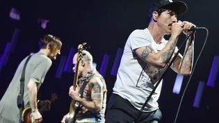 Les Red Hot Chili Peppers en concert au Madison Square Garden à New York en février 2017.  (MIKE COPPOLA / GETTY IMAGES NORTH AMERICA / AFP)