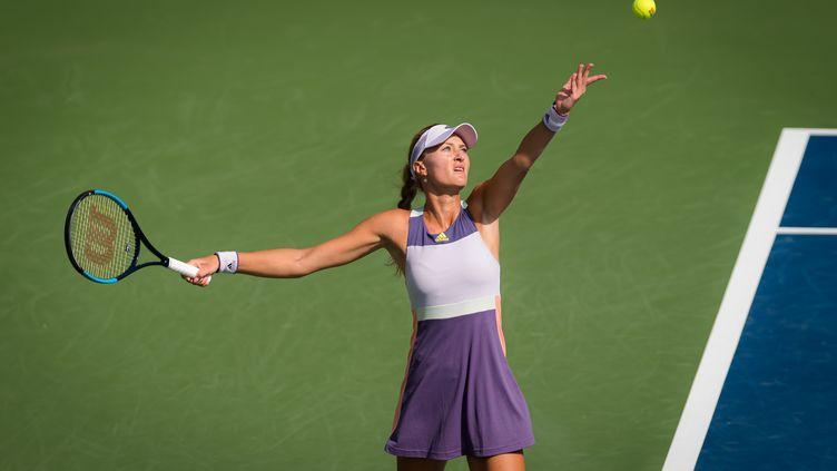 Kristina Mladenovic s'est qualifiée pour le deuxième tour de l'US Open face à la Russe Varvara Gracheva. (ROB PRANGE / SPAINDPPI)