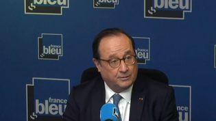 François Hollande, ancien président de la République, était l'invité de France Bleu le 13 février 2020 (capture écran). (FRANCE BLEU / RADIO FRANCE)