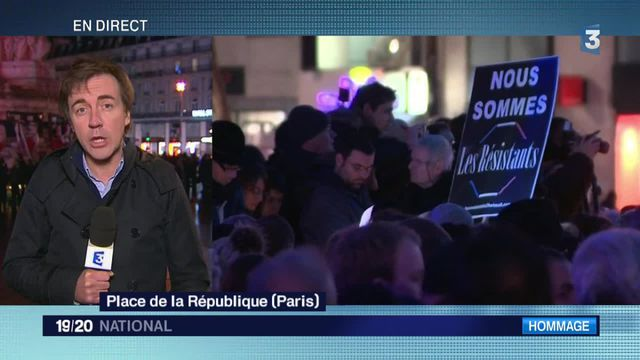 Attaques de Paris : hommage aux victimes place de la République