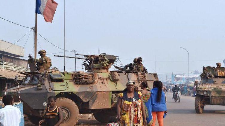 Détachement Sangaris dans Bangui. Désormais, le détachement français ne comptera plus que 350 hommes. (AFP)
