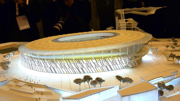 La maquette du nouveau stade de l'AS Roma (GABRIEL BOUYS / AFP)
