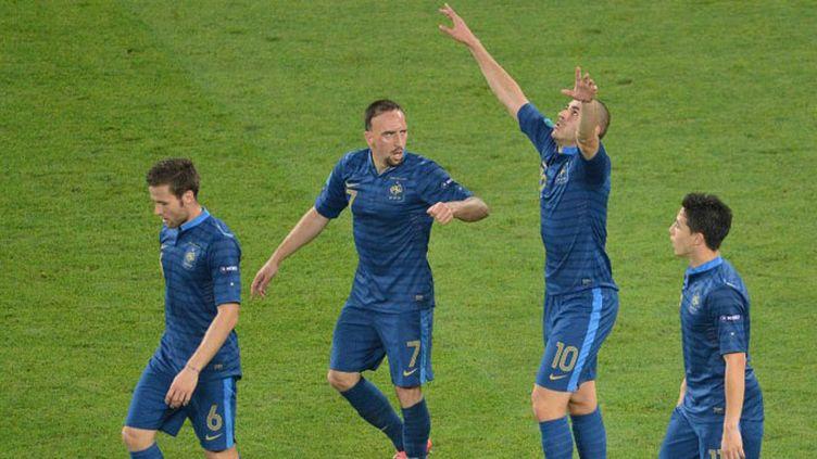 Karim Benzema, Franck Ribéry, Samir Nasri et Yoann Cabaye