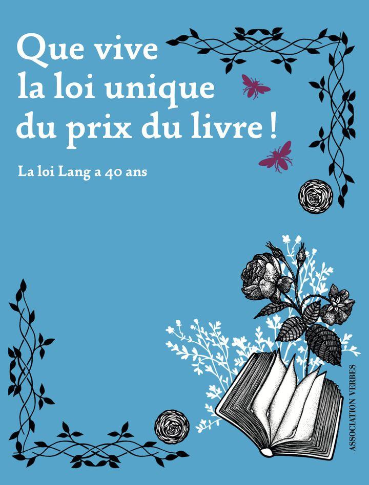 """Couverture de """"Que vive la loi unique du prix du livre"""", avril 2021 (Association Verbes / Gallimard)"""