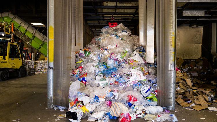 Une usine de tri et de valorisation des déchets. (NICOLAS PARENT / MAXPPP)