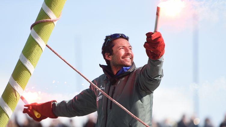 Le skipper français Romain Attanasio (JEAN-SEBASTIEN EVRARD / AFP)