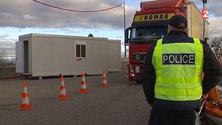Un poste de douanesau sud de Strasbourg (Bas-Rhin), à la frontière avec l'Allemagne. (FRANCE 2)