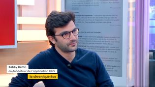 Bobby Demri, co-fondateur de l'application GOV (FRANCEINFO)