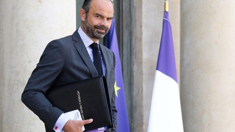 Edouard Philippe, à la sortie de l'Elysée, le 19 septembre 2018, à Paris. (LUDOVIC MARIN / AFP)
