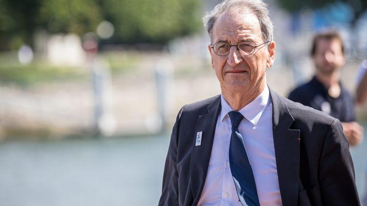 Denis Masseglia, lors de la journée de soutien à la candidature de Paris pour les Jeux Olympiques de 2024, le 23 juin 2017. (AURELIEN MORISSARD / MAXPPP)