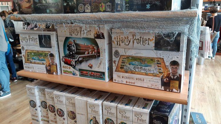 """La boutique Harry Potter """"Le Repaire des Sorciers"""" à Labège (Haute-Garonne) (SUZANNE SHOJAEI / FRANCE BLEU OCCITANIE / RADIO FRANCE)"""