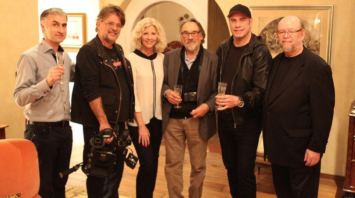 Vilmos Zsigmond entouré de Nancy allen et John Travolta  (Lost Films)