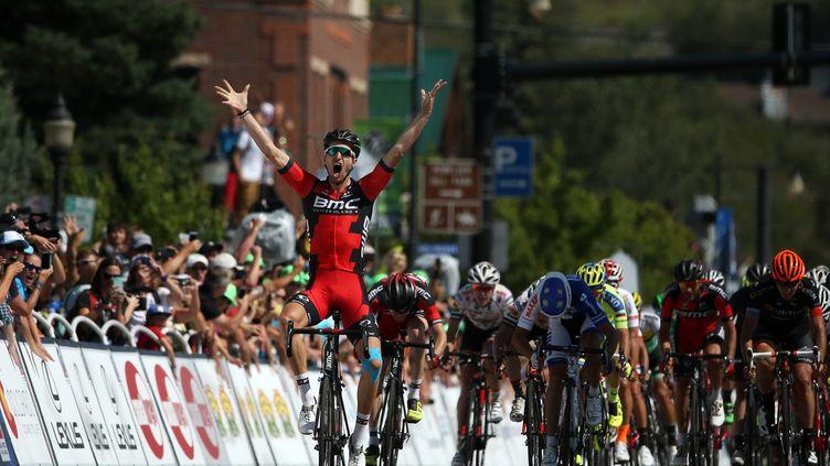 Taylor Phinney, vainqueur au sprint de la première étape du Tour du Colorado.  (CHRIS GRAYTHEN / GETTY IMAGES NORTH AMERICA)