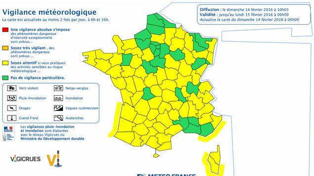 (Alerte orange levée © capture d'écran Météo France)