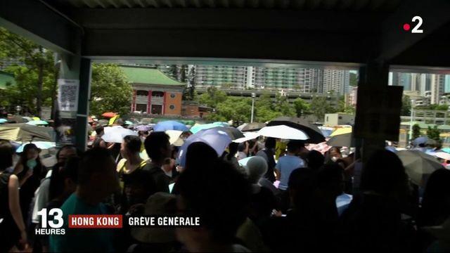 Hong Kong : une grève générale paralyse la ville